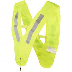Nikolai v-shaped safety vest for kids, Neon Yellow
