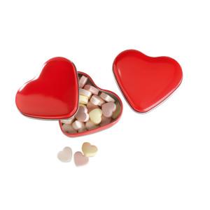 Kutijica u obliku srca s bombonima