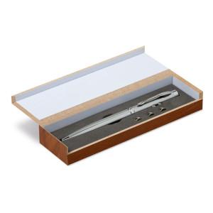 Led svjetiljka i laserski pokazivač u drvenoj kutiji