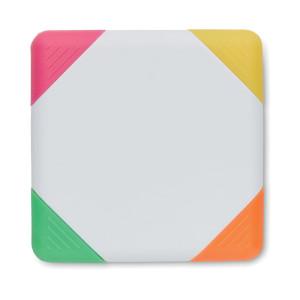 4 markera različitih boja u četvrtastom kućištu od ABS-a