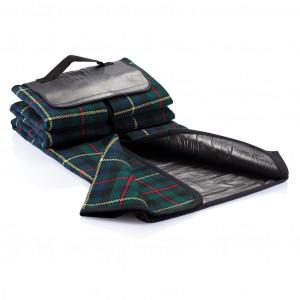 Tartan piknik deka, crne boje